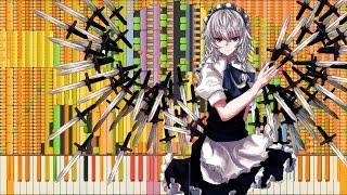 Synthesia: Touhou 13 - Desire Drive | 125,000 Notes | Black
