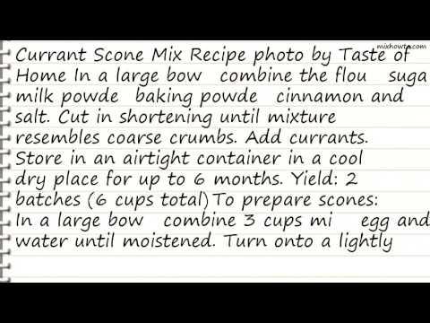 Recipe Currant Scone Mix Recipe
