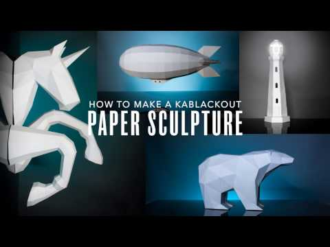 KaBlackout Papercrafts : How To Make 3D Low Poly Paper Sculptures