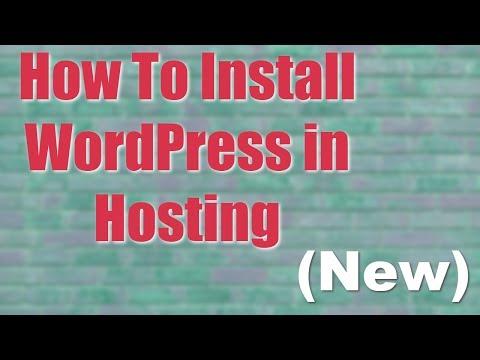 INSTALL WordPress : How To Install WordPress in Hosting  || WordPress Easy Install 2017