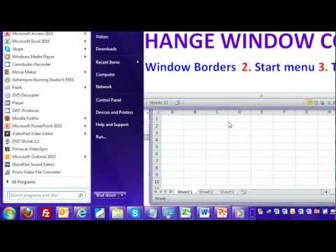 Change the Color of Start menu, Taskbar and borders