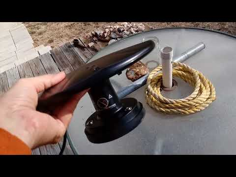 PORTABLE OVER THE AIR HD TV ANTENNA...part 1 of 2...FREE HD TV