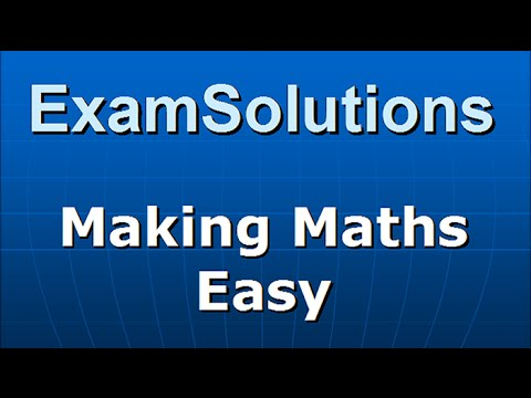 Vector Product applications - Area of a Triangle : ExamSolutions Maths Revision