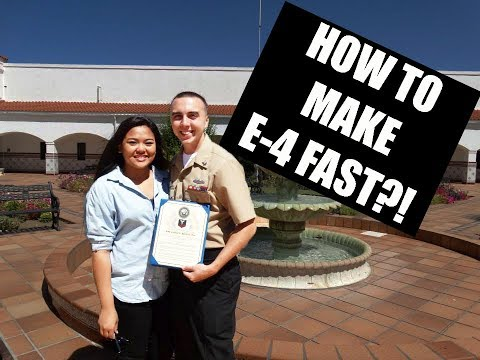 HOW TO MAKE RANK (E-4) QUICK IN THE MILITARY?!