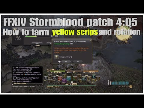 FFXIV Stormblood patch 4.05 How to farm yellow scrips and rotation