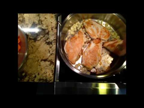 Chicken dinner cooked in one pot
