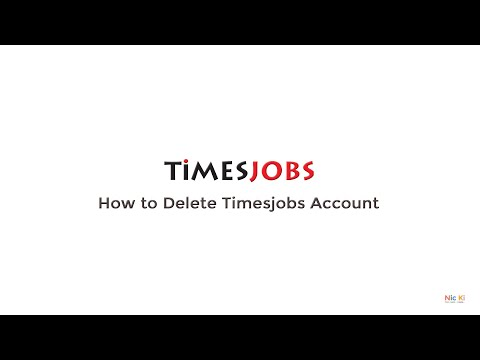 How to delete Timesjobs account permanently...