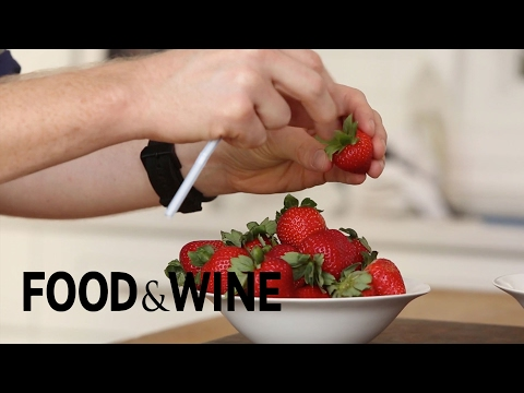 How to Hull Strawberries with a Straw | Mad Genius Tips | Food & Wine