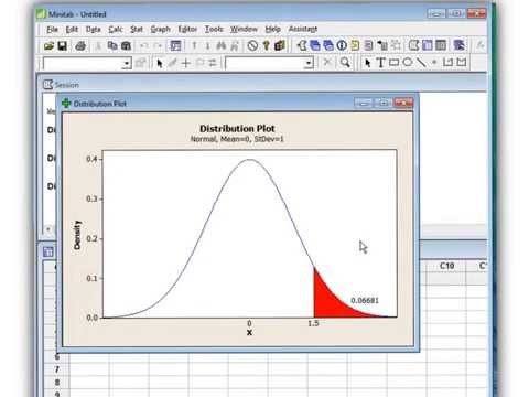 Probability from a Normal Curve 2 Ways Table and Minitab