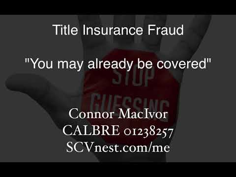 Title Insurance Fraud you may already be covered