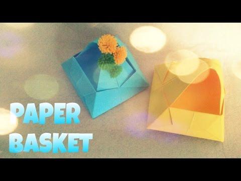 Origami Flower Basket - Origami Easy