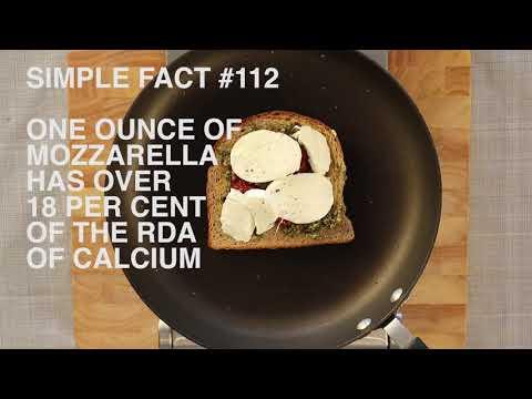 #SimpleFacts - Mozzarella and pesto panini