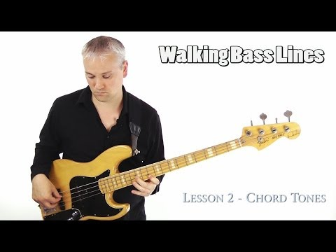 How To Play Walking Bass Lines - Using Chord Tones
