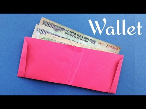 Paper Wallet using A4 sheet - (Very easy to make) - DIY Origami Tutorial by Paper Folds ❤️