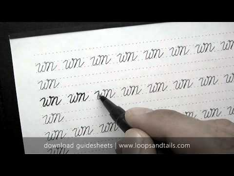 How to write in cursive - wn