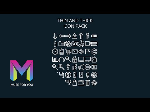 Adobe Muse CC | SVG Icon Pack | Muse For You