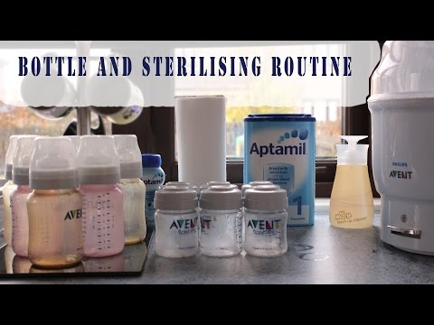 Bottle Sterilising Routine