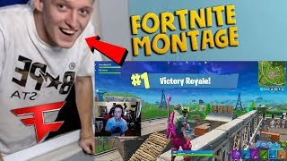 BEST FORTNITE PLAYER REACTS TO MY MONTAGE!! (FaZe Tfue)