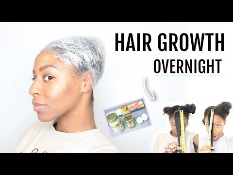 HOW TO Grow Your Hair OVERNIGHT! 1 INCH in 1 DAY?? TESTED!!