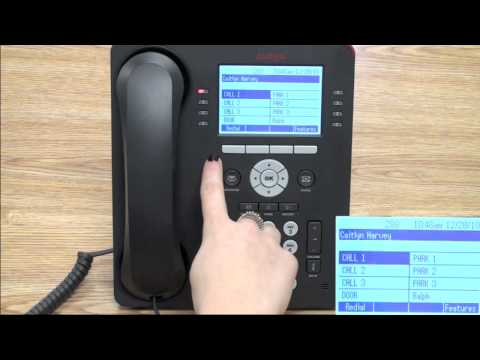 Answer, Transfer, Redial, and make a Phone Call on the Avaya 9608 Telephone