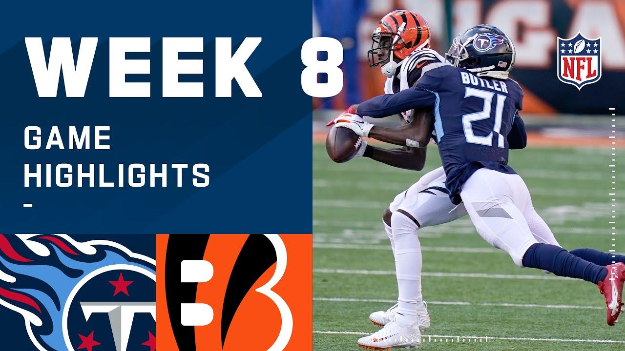 Titans vs. Bengals Week 8 Highlights | NFL 2020