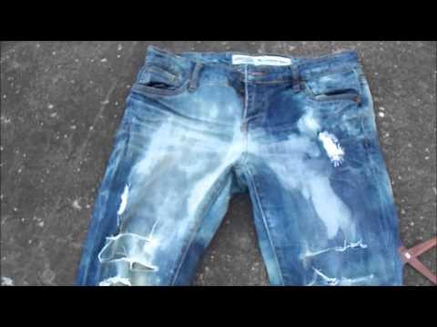 DIY:Acid Washed Jeans W/ Bleach