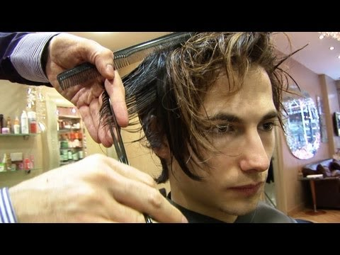 Popular Men's Hairstyle ✂ Medium Length Haircuts With Choppy Layers ✂ Side Swept Bangs For Men