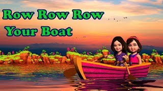 Row Row Row Your Boat Song, Lyrics - English Rhymes Songs for Children | Mum Mum TV