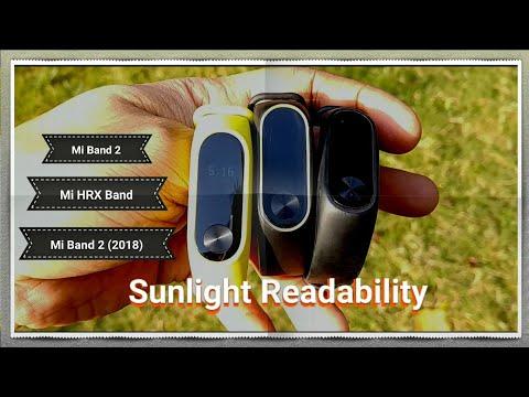 Mi Band 2 vs Mi Band 2 (2018) vs Hrx Band (Real life) Sunlight Readability Test