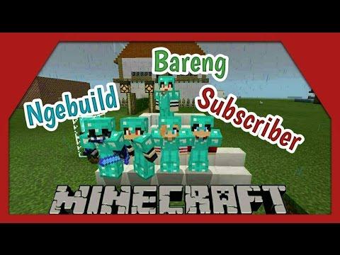 Membuat rumah bareng subscriber (multiplayer) #12| Minecraft pocket edition Indonesia