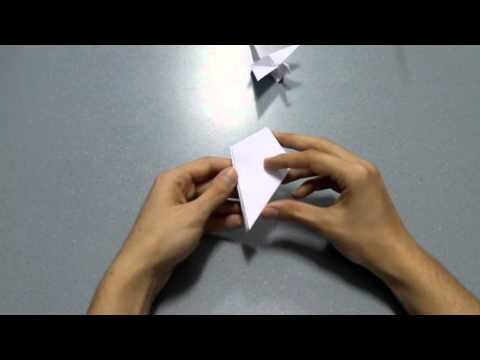 How to make origami flapping bird
