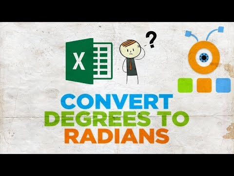 How to Convert Degrees to Radians in Excel