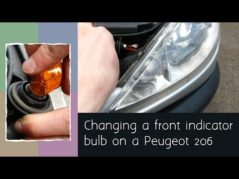 How to change a front indicator bulb on a Peugeot 206
