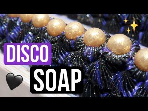 Disco Glam Custom Soap with BLACK FROSTING | Royalty Soaps