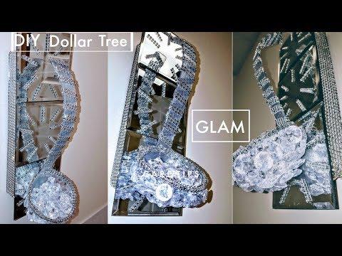 DIY Dollar Tree Wall Decor - Super GLAM & EASY