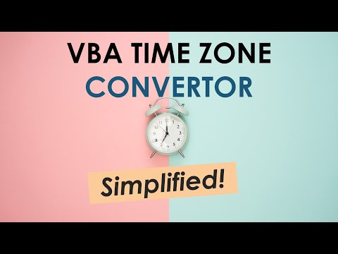 How to Convert System time to any Time Zone using VBA