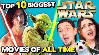 Top 10 BIGGEST Star Wars Movies Of All Time | Adults React