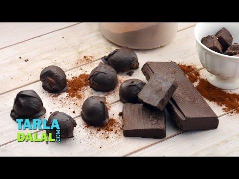 Coffee Truffles, Coffee Chocolate Truffles by Tarla Dalal