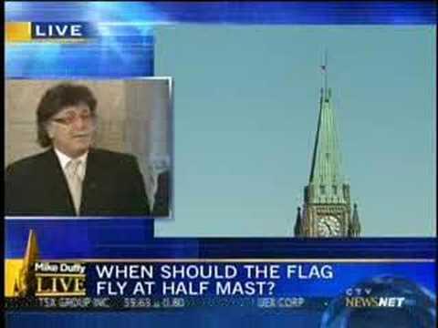 Canadian Flag Flap - Half Mast of Peace Tower Flag
