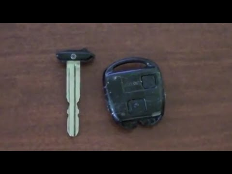 Toyota RAV4: How to Replace Broken Key Shell / Remote Key