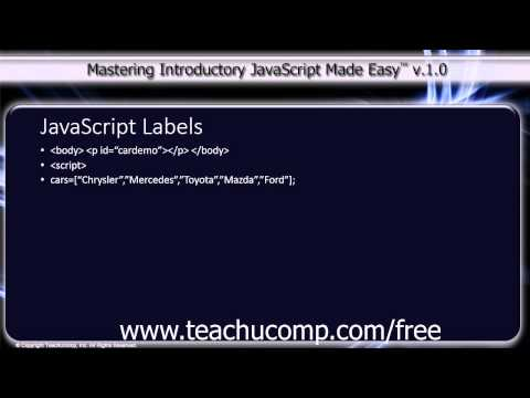 JavaScript Training Tutorial JavaScript Labels