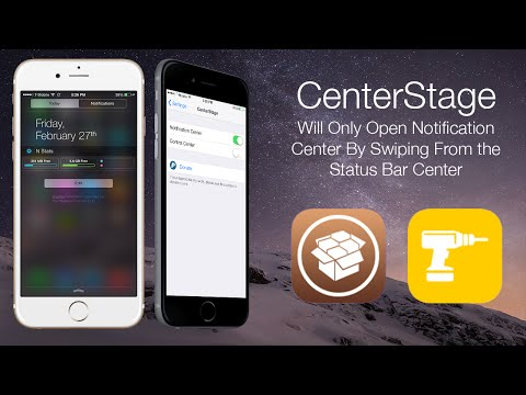 CenterStage: Will Only Open Notification Center By Swiping From the Status Bar Center