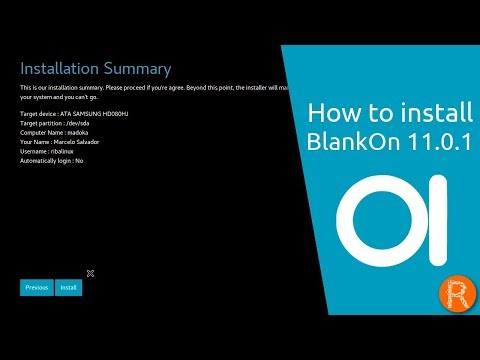 How to install BlankOn 11.0.1