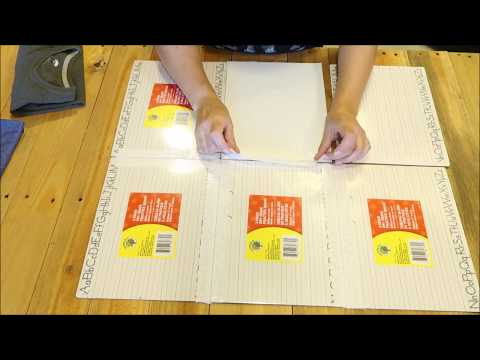 HOW TO MAKE A SHIRT FOLDING BOARD | UNDER $10. PROJECT USING DOLLAR TREE SUPPLIES