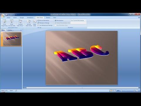 Tutorial powerpoint 2007 |Cara Membuat Teks 3D Late Sunset Wordart in Powerpoint