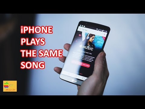 iPhone plays the same song over and over