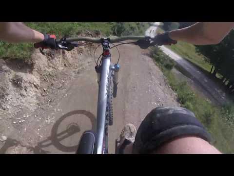 Riding at Les Gets bike park