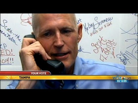 Your Vote: Rick Scott campaigns on Florida's primary day
