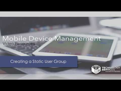 Creating a Static User Group