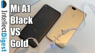 Xiaomi Mi A1 Black Vs Gold Colour Comparison